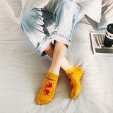1/2/3/4/5 Pairs Trendy Men Women Colorful Combed Cotton Anckle Socks Boat Socks Tide Brand Cola Funny Socks for Adults