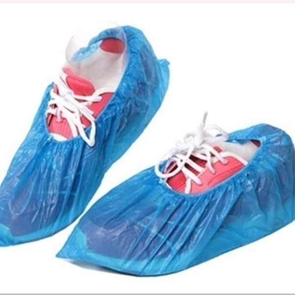 60PCS(30Pairs) Disposable Shoe Covers Blue Colour Carpet Floor Protector Foot New Covering