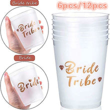 Load image into Gallery viewer, 6Pcs/12Pcs Bride Tribe Cups Bridal Shower Wedding Engagement Party Bride To Be Drinking Cups Hen Night Bachelorette Party Decor