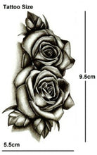 Load image into Gallery viewer, 4pcs Makeup Rose Flower Arm Tattoo Temporary Floral Bloosom Body Art Tattoo Sticker Long Lasting Fake Plant Tatoo Paper Fake Tattoo