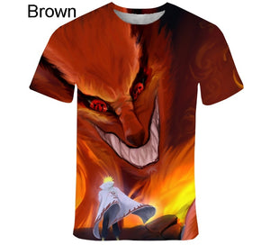 2020 New Fashion Naruto 3D Kids T-Shirt