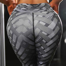 Load image into Gallery viewer, Women Fashion Weaving 3D Printed Workout Leggings Fitness Sports Gym Running Lift The Hips Yoga Pants Outdoors