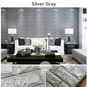 5/10PCS (size: 23.6 * 11.8 inches)3D Brick Pattern Wallpaper Bedroom Living Room Modern Wall Background TV Decor Wallpaper