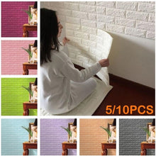 Load image into Gallery viewer, 5/10PCS (size: 23.6 * 11.8 inches)3D Brick Pattern Wallpaper Bedroom Living Room Modern Wall Background TV Decor Wallpaper