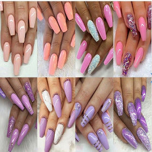 19PCS/Set Nail Art Dipping System Dip Nail Powder Kit Natural Dry Long Lasting Nail Arts Kit