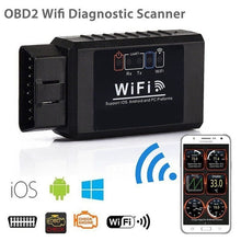 Load image into Gallery viewer, ELM327 V1.5 wifi OBD2 Car Auto Diagnostic Tool Code Reader For Android/IOS ELM 327 V1.5 WIFI OBD2 Scanner black