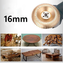 Load image into Gallery viewer, 100mm Wear-resistant Grinding Polishing Disc Carpentry Spur Disc Angle Grinding Wheel Round Grinding Carving Shape Tea Tray Polishing Wheel Woodworking Tool