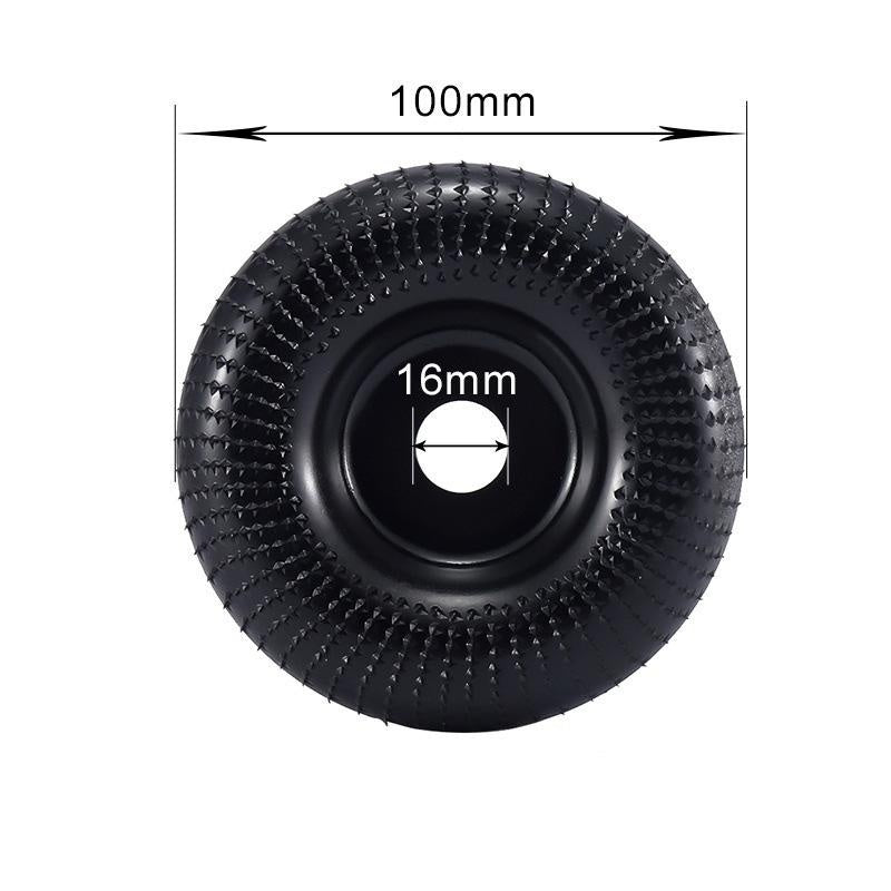 100mm Wear-resistant Grinding Polishing Disc Carpentry Spur Disc Angle Grinding Wheel Round Grinding Carving Shape Tea Tray Polishing Wheel Woodworking Tool