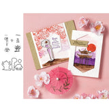 CH Japanese woman Metal Cutting Dies and stamps DIY Scrapbooking Card Stencil Paper Craft Wedding Decor