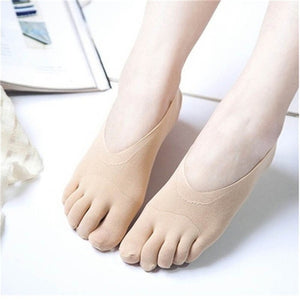 6pcs /4pcs /2pcs Women Summer Five-finger Socks Female Ultrathin Sock Funny Toe Invisible Sokken with Silicone Anti-skid Breathable Anti-friction