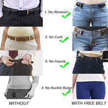 Load image into Gallery viewer, Buckle-Free Belt For Jean Pants,Dresses,No Buckle Stretch Elastic Waist Belt For Women/Men,No Bulge,No Hassle Waist Belt