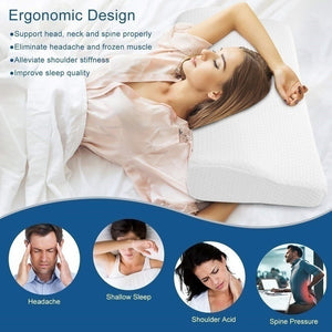 Memory Foam Pillow For Sleep Cervical Pillows Butterfly Shaped Memory Pillows Relax The Cervical Spine Adult Slow Rebound