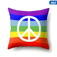 Load image into Gallery viewer, 1Pcs Cute Rainbow Gay Pride Lgbt Throw Pillow Case Watercolor Cushion Cover Home Sofa Decor 45X45Cm