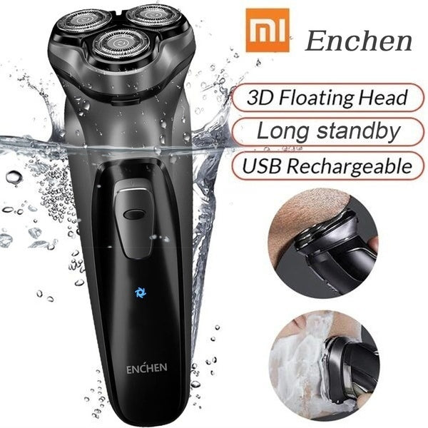 Xiaomi Enchen Black Stone Style 3D Electric Shaver Trimmer Razor Facial Washable Rechargeable Shavers for Men