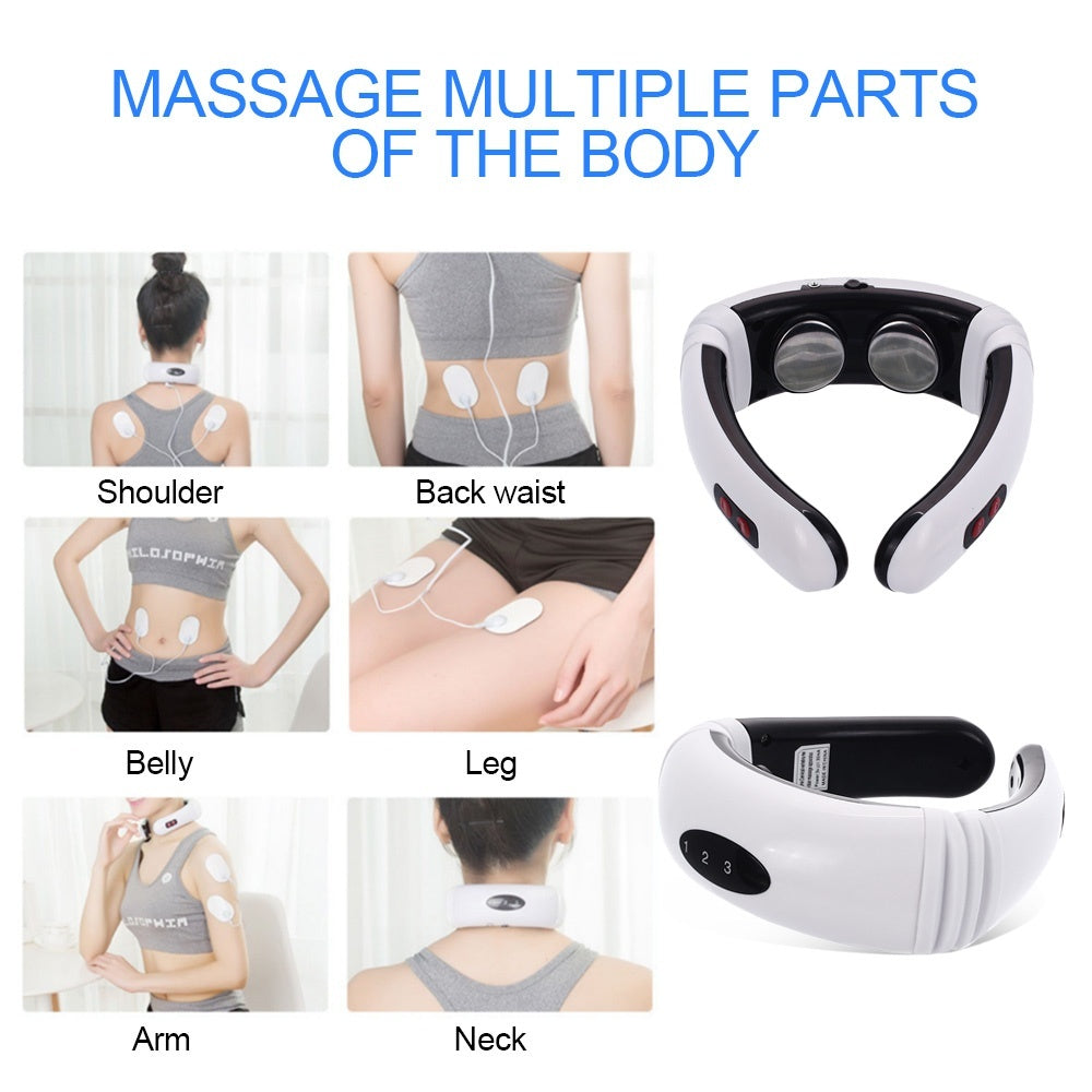New 3 colors Upgrade  Electric Intelligent Neck & Body & Back Massager Far Infrared Heating Pain Relief Tool Health Care Relaxation Multifunctional Physiotherapy (Normal/Upgrade)