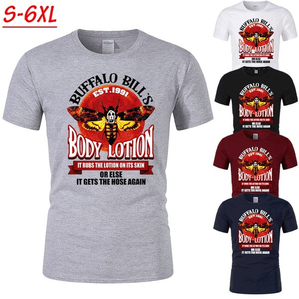 2020 New Arrived Men's Women's Fashion Short Sleeve Gothic Horror Buffalo Bill's Body Lotion The Silence of The Lambs T-Shirt