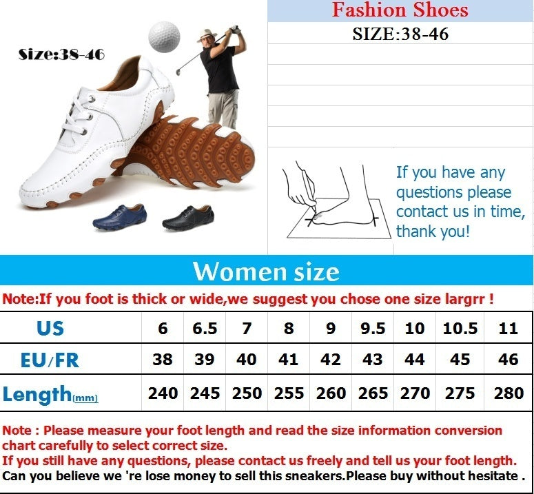 Leather Golf Shoes Casual Shoes Lightweight Men's Shoes Golf Breathable Waterproof Anti-slip Shoes Golf Shoe British Style Shoes