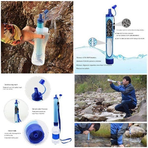 Outdoor Water Purifier Camping Hiking Emergency Life Survival Portable Purifier Water Filter