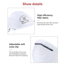 Load image into Gallery viewer, 3 PCS FFP2 N95 Disposable Professional Health Care Accessories Non-Woven Anti Fog Anti Haze Mouth-muffle Mask Eco- friendly