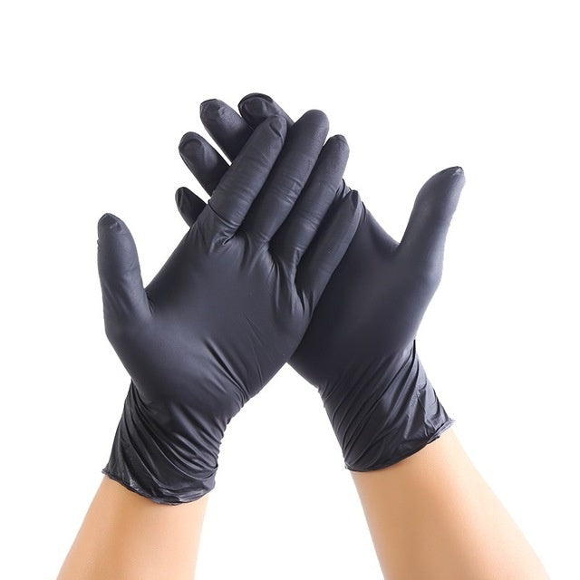 20/100PCS Black Disposable Gloves Latex Dishwashing/Kitchen/Medical /Work/Rubber/Garden Gloves Universal For Left and Right Hand
