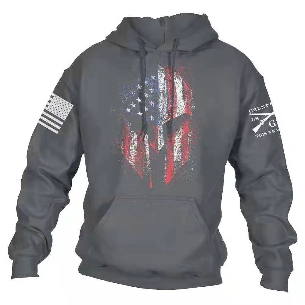Quality Cotton Us Size S-5XL Brand hood men hoodies fleece warm pullovers sweatshirts mens hoodies jacket sportwear Flag Pullover Hoodie