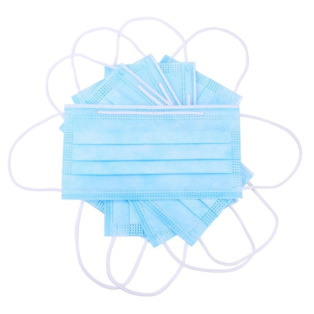 50Pcs Disposable Face Masks 3 Layers Dustproof Facial Protective Anti-Dust Mouth Cover