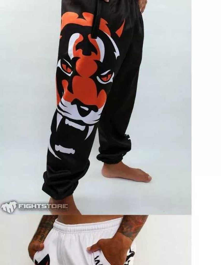 Men boxing sports fitness Tigter Muay Thai Personality Loose Large Size Long Thai Fist and Jogging Pants Running Fights Kickboxing