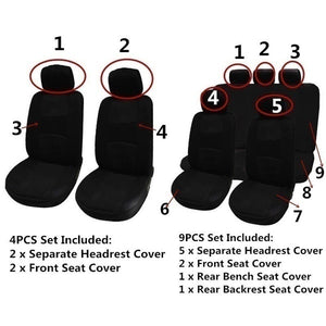 4Pcs/9Pcs Universal Car Seat Covers Breather Car Seat Cover Full Set Car Cushion Case Cover Front Car Seat Cover Car Accessories Car Seats Car-Styling Car Interior Automobiles Green Car Seat Cover