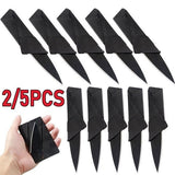 2pcs/5pcs Credit Card Knife Multifunctional Pocket Knife Wallet Multi Tool Multitool Camping Survival Tools