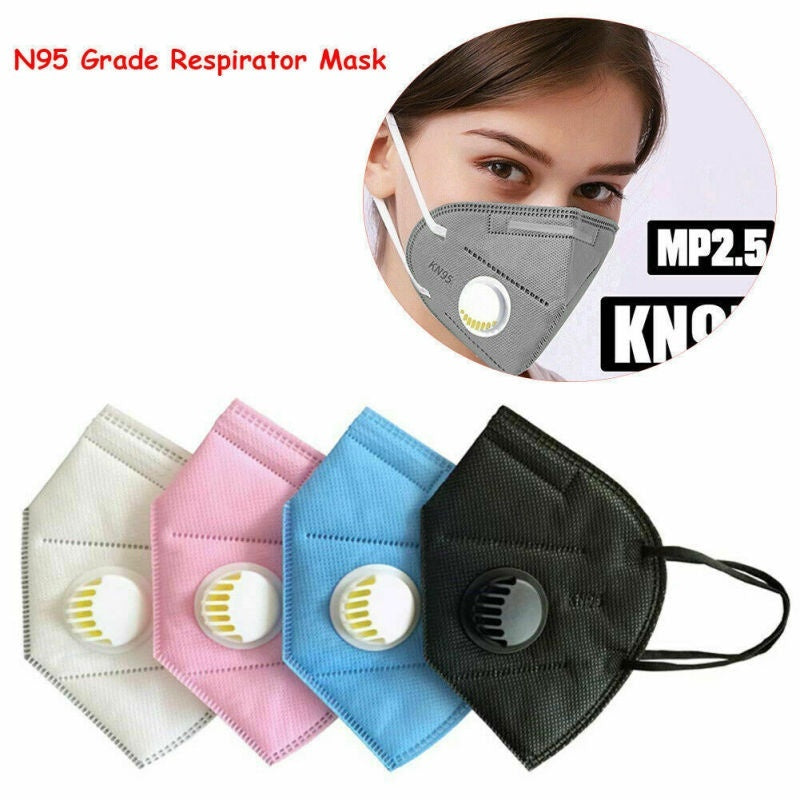 KN95 Folding Valved Dust Mask PM2.5 Face Mouth Mask