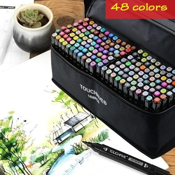 Markers Set 48 Color Copic Markers Sketch Set For Manga Design Double Head Brush Pen For School Art Supplies Design Marker colored