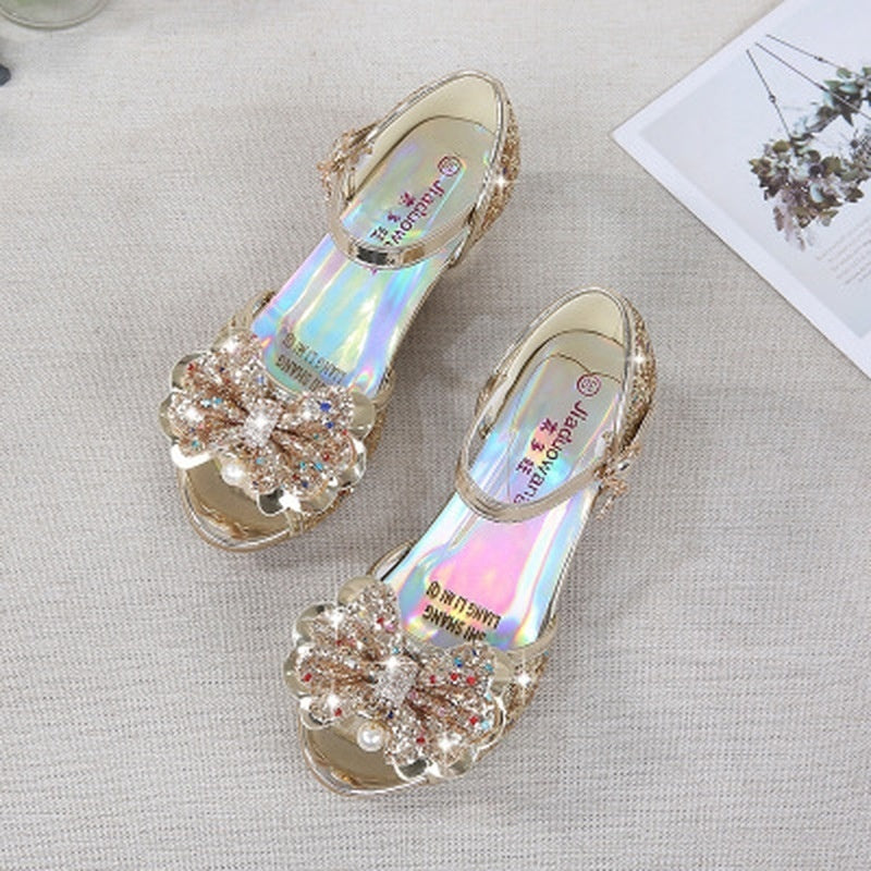 New Fantasy Girls High Heels Children's Sandals Bow Children's Shoes