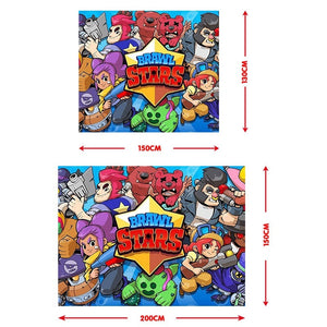 3d Brawl Stars Painting Hanging Tapestry Children's Rooms Wall Decor(150*100CM / 150*130CM / 200*150cm)