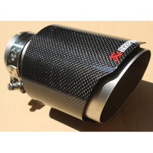 Load image into Gallery viewer, New Inlet 54-63mm Outlet 89-114mm Akrapovic Carbon Fiber Exhaust End Tips for BMW BENZ AUDI VW End Pipes Tips