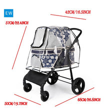 Load image into Gallery viewer, Foldable Transparent Dog Stroller Rain & Wind COVER for Pet Pushchair Pram