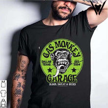 Load image into Gallery viewer, 2020 fashion Details about  Official Gas Monkey Garage Licensed Fast N Loud Kustom Builds Skull Mens T-shirt
