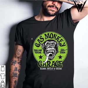 2020 fashion Details about  Official Gas Monkey Garage Licensed Fast N Loud Kustom Builds Skull Mens T-shirt