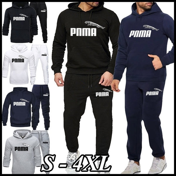 2020 autumn and winter new men's fashion sportswear outdoor sports running clothes hooded sweater sweater trousers 2