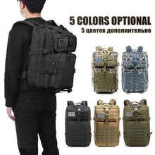 Load image into Gallery viewer, 50L Capacity Men Army Military Tactical Large Backpack Waterproof Outdoor Sport Hiking Camping Hunting 3D Rucksack Bags For Men