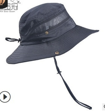 NEW Summer Mens Sun Hat Bucket Fishing Hiking Cap Wide Brim UV Protection Hat AU