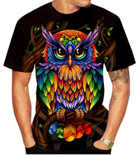 Load image into Gallery viewer, New Owl 3D lovers printed personalized men T-shirt