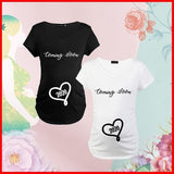 Pregnancy Clothing Tops Coming Soon 2020 Letter Printing T Shirt