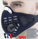 PM2.5 Cycling Anti Dust Face Mask Active Carbon Filter KN95 Breathable Folding Adjustable Size Filter Outdoor Cycling Running Protective Mask With 4 layers Filter Chip Optional 10Pcs