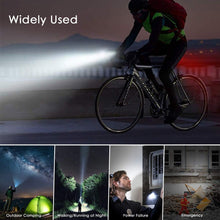 Load image into Gallery viewer, LED Lamp Bike Bicycle Front Head Light Rear Safety Waterproof Flashlight USB Charge Waterproof 4 Modes Bicycle Taillight Mountain Bike Warning Light