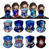 36 Patterns Sonic The Hedgehog Seamless Neck Scarf Multifunction Face Mask For Motorcycle Cycling Headbands