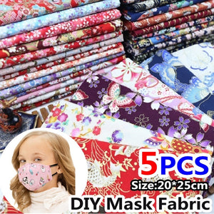 5pcs Diy Sewing & Knitting Supplies Cotton Fabric Bundle Patchwork Floral Fabric 20*25cm Quilting Sewing Crafts Cloth for Small Bag/Mouth Mask Making