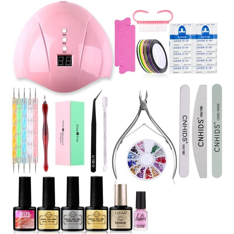 22/33Pcs 36W Usb Nail Art Kit Tool Full Manicure Set With Lamp Gel Nail Polish Kit Tools For Manicure Set Nails Gel Polish