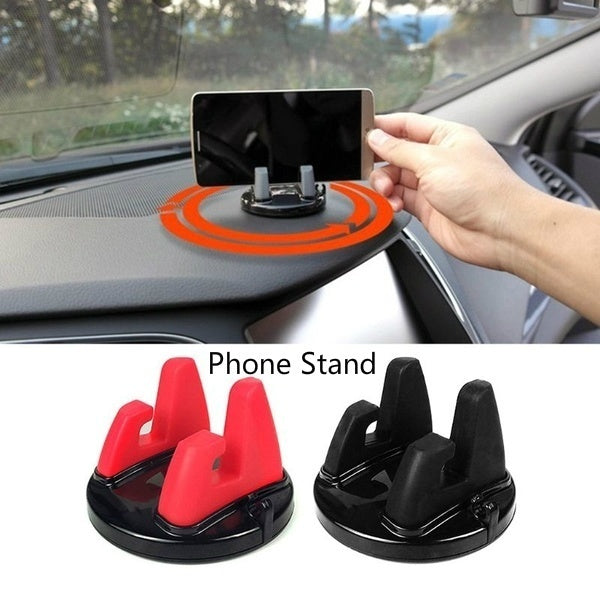 New Car Phone Holder Stands Rotatable Support Anti Slip Mobile 360 Degree Mount Dashboard GPS Navigation Universal Silica gel mobile phone bracket