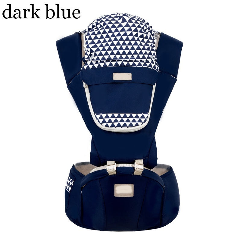 Multifunctional Baby Carrier, Summer Breathable Mesh Cloth Front and Back Baby Waist Stool Baby Waist Stool