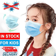 Load image into Gallery viewer, 10/20/40/50/100 Pcs Disposable Children's Masks Unisex Adult Masks Comfortable Thick 3-Layer Masks